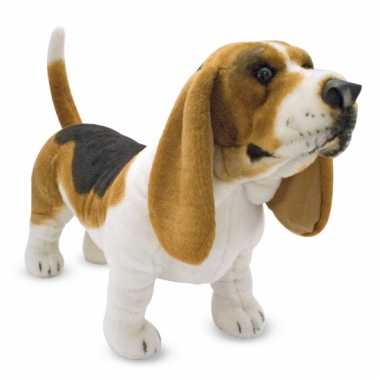 Basset hound knuffel 65 cm hond