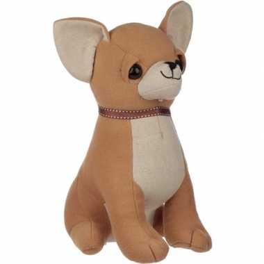 Knuffel dieren deurstopper chihuahua hond 25 cm