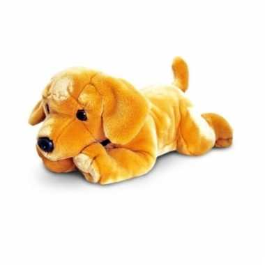 Knuffel kinder speelgoed pluche labrador pup 90 cm hond