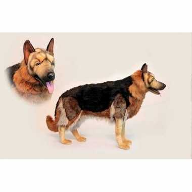 Knuffel levensechte pluche duitse herder 98 cm hond