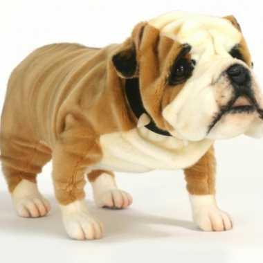 Knuffel pluche engelse buldogs hond