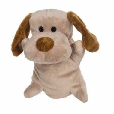 Knuffel theater pop pluche hond 24 cm