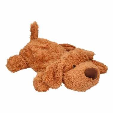 Knuffel warm water kruik bruine hond