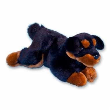 Liggende rottweiler knuffels 26 cm hond