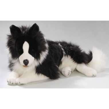 Pluche border collie hond knuffel 60 cm