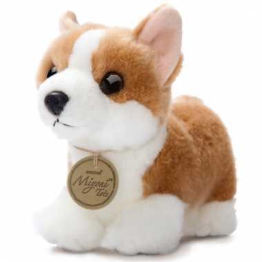 Pluche corgi pup honden knuffel 20 cm