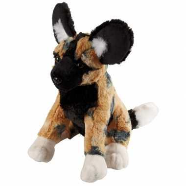 Pluche dieren knuffel wilde hond308 cm
