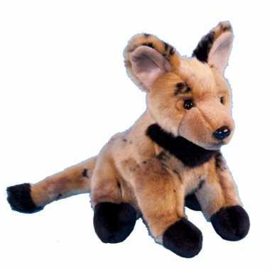Pluche knuffeldier hyena 21 cm hond