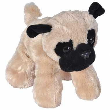 Pluche mopshond knuffeltje 18 cm