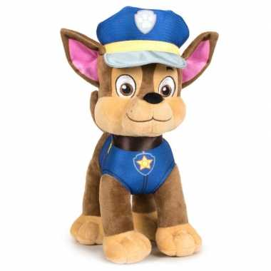 Pluche paw patrol chase classic knuffel 27 cm hond