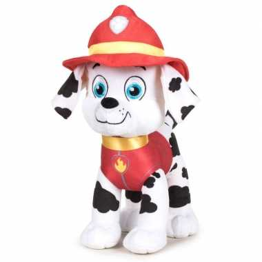 Pluche paw patrol marshall classic knuffel 19 cm hond