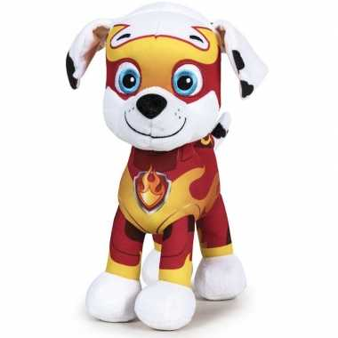 Pluche paw patrol marshall mighty pups knuffel 27 cm speelgoed hond