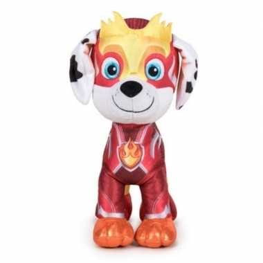 Pluche paw patrol marshall mighty pups super paws knuffel 19 cm hond