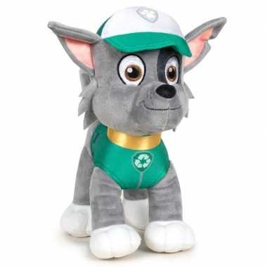 Pluche paw patrol rocky classic knuffel 19 cm hond