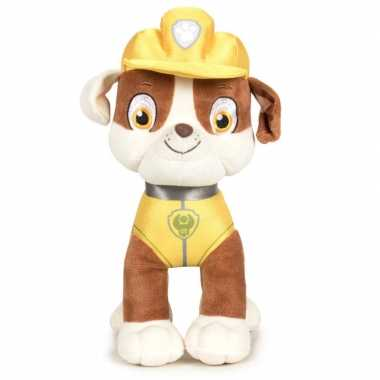Pluche paw patrol rubble classic knuffel 27 cm hond