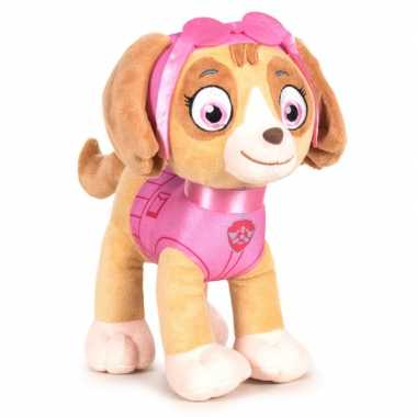 Pluche paw patrol skye classic knuffel 27 cm hond