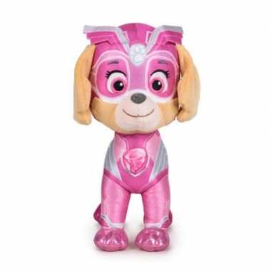 Pluche paw patrol skye mighty pups super paws knuffel 19 cm hond