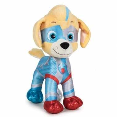 Pluche paw patrol tuck mighty pups super paws knuffel 27 cm hond