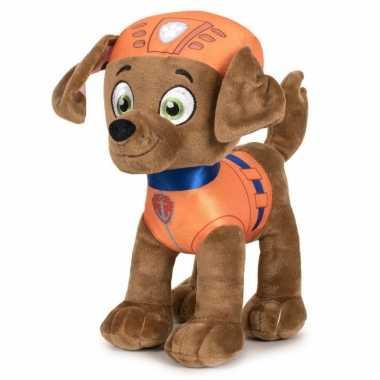 Pluche paw patrol zuma classic knuffel 19 cm hond