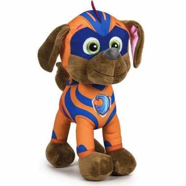 Pluche paw patrol zuma mighty pups knuffel 27 cm speelgoed hond