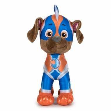 Pluche paw patrol zuma mighty pups super paws knuffel 19 cm hond