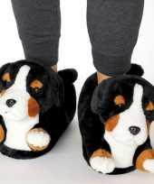 Knuffel dieren berner sennen hond pantoffels sloffen voor volwassenen